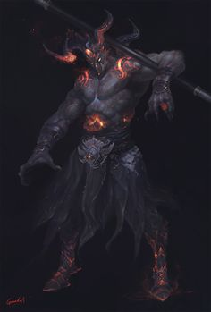 General 1500x2221 demon horns dark drawing