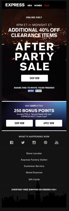 Express after party sale