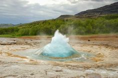 World's Beautiful Landscapes.: Strokkur Geyser, Iceland
