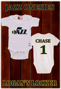 The Utah Jazz Onesies Choose Your Team by LAYLASRUNWAY on Etsy d9d78ae15