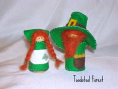 Waldorf Inspired Lucky Leprechaun and Wee by TheToadstoolForest, $22.00