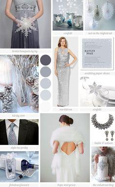 Winter Wonderland wedding inspiration board