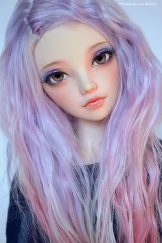bjd #doll #purple #hair
