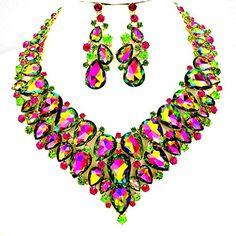 Wedding Jewelry Green Ab Cz Crystal Gold Chain Necklace Jewelry Earring Set Statement Drag Queen Affordable Wedding Jewelry http://www.amazon.com/dp/B01BCGVEFU/ref=cm_sw_r_pi_dp_IDGVwb1X4TM1F