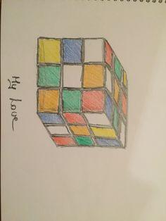 Rubik cube, my andventure, colourful pencil