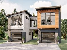 Find your dream modern style house plan such as Plan which is a 761 sq ft, 1 bed, 1 bath home with 2 garage stalls from Monster House Plans. Building A Container Home, Container House Plans, Container House Design, Container Homes, Shipping Container Home Designs, Small Modern House Plans, Modern Garage, Modern Houses, Small Modern House Exterior