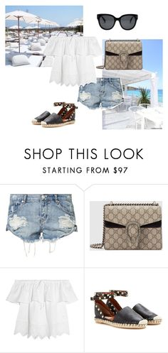 """Untitled #1198"" by salma12222 ❤ liked on Polyvore featuring OneTeaspoon, Gucci, St. Tropez, Madewell and Valentino"