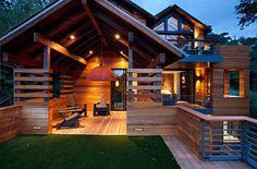 Modern Timberframe Deck