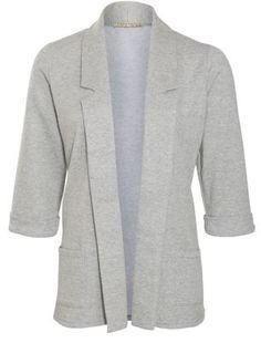 Innocence Grey Jersey 3/4 Sleeve Blazer