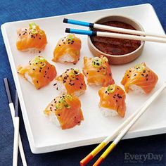 Sticky Rice Bites with Salmon