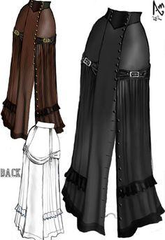 Steam-punk Victorian Buckle Skirt