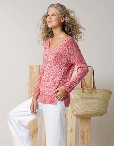 Book Woman Sport 87 Spring / Summer | 9: Woman Sweater | Coral