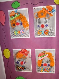 My children's room Anika: circus project: We continue to decorate the halls room - Einrichtungsstil Art Lessons Elementary, Lessons For Kids, Projects For Kids, Crafts For Kids, Arts And Crafts, Art Projects, Circus Activities, Kindergarten Activities, Art Activities