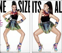 """I get how this magazine is trying to show that every size can be beautiful. But I can't believe the girl on the right is called a """"plus size model"""". She looks like a healthy normal size girl. I'd even call her skinny!"""