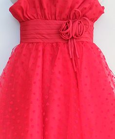 Party Dress in Red #salesuit #cheapsuit #saledress #cheapdress #flowergirldress #tulledress