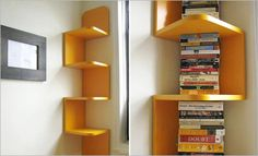 Home Ideas , 7 Small Corner Bookshelf Idea : Small Corner Bookshelf Design