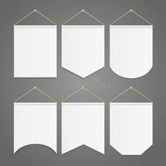 Foto sobre Molde branco da flâmula que pendura no grupo da parede Ilustração do vetor. Ilustração de informação, poster, gráfico - 77115334