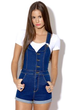 Universal Store WRANGLER Dungaree Frenchy Blue