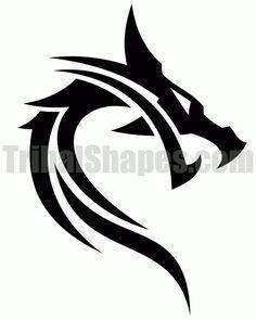 Dragon tribal - Galena U. Lobo Tribal, Arte Tribal, Tribal Dragon Tattoos, Dragon Tattoo Designs, Hai Tattoos, Body Art Tattoos, Tatoos, Small Tattoos, Sleeve Tattoos