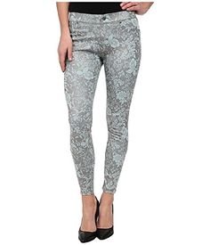 d34c56edbae6ec Hue Women's Floral Metallic Super Smoooth Denim Skimmer Legging at Amazon  Women's Clothing store: Hue