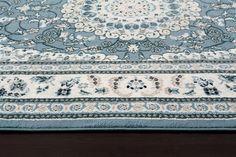 Blue Medallion Oriental Persian Discount Area Rugs (5x8) (8x11) - Bargain Area Rugs