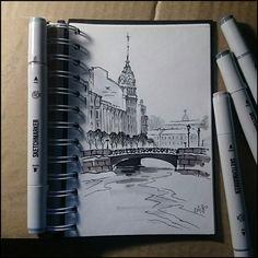 Instaart - Blue bridge by Candra
