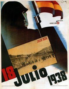 Spain - 1938. - GC - poster - autor: Cantos