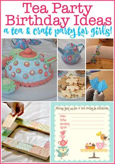 A Tea Party Birthday is the perfect theme for girls! Here are some great tea party birthday ideas including tea party crafts, tea party activities, and a teapot cake and party snacks that fit the theme! Tea Party Activities, Tea Party Crafts, Tea Party Games, Boy Party Favors, Birthday Activities, Kids Party Themes, Craft Party, Party Snacks, Party Ideas