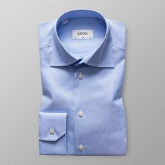 Hounds Tooth High Cut Away Twill Shirt - Slim fit  | Eton Shirts US