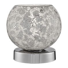 EU2169WH Mosaic - dotyková stolová lampa - biela mozaika
