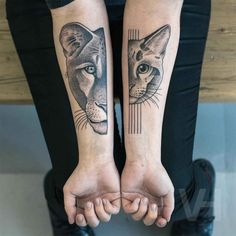 this idea but for a painting  Half Lion Half Cat Tattoos | Best Tattoo Ideas Gallery