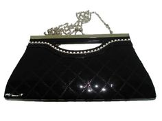 TC-44173 Pu pvc Evening Handbag Clutch Bag Purse with Rhinestone in the Front $13.99