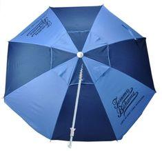 Tommy Bahama ft Fiberglass Beach Umbrella with Sand Anchor Aluminum Pole, UPF and Tilt