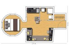 Malý bytík s rozlohou 20 m²