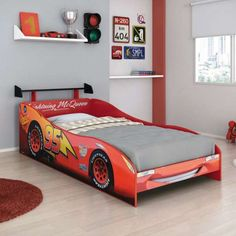 cama infantil menino - Pesquisa Google Modern Kids Bedroom, Cool Kids Bedrooms, Cama Cars, Toddler Rooms, Toddler Bed, Disney Cars Bedroom, Kids Car Bed, Kids Bed Design, Bedroom Furniture