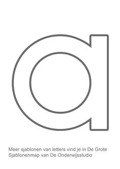 Sjabloon letter a http://onderwijsstudio.nl/product/de-grote-sjablonenmap-met-cd-rom/