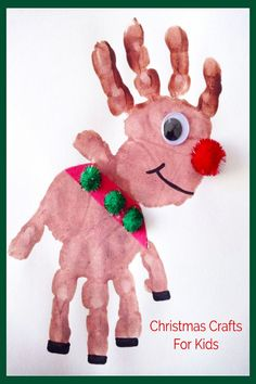 DIY Christmas Crafts and craft projects for Kids - Handprint reindeer finger pai. , DIY Christmas Crafts and craft projects for Kids - Handprint reindeer finger pai. DIY Christmas Crafts and craft projects for Kids - Handprint reind. Preschool Christmas Crafts, Daycare Crafts, Xmas Crafts, Crafts To Do, Childrens Christmas Crafts, Diy Crafts, Winter Preschool Crafts Toddlers, Christmas Toddler Activities, Toddler Christmas Photos
