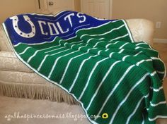 Indiana Colts - I don't make blankets, but if I ever do, I kinda like this one. :-)