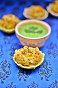 Stuffed Cheesy Sabudana Vada made in Paniyaram pan using very low oil, step wise blogpost