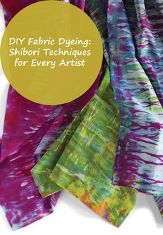 Discover a variety of shibori techniques with tutorial on Quilting Daily>>