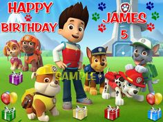 PAW PATROL EDIBLE CAKE TOPPER IMAGE DECORATION