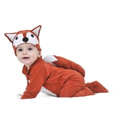 Lil' fox baby and toddler costume with hat