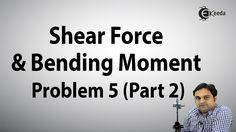 Shear Force and Bending Moment Problem 5 Part 2 | Ekeeda.com