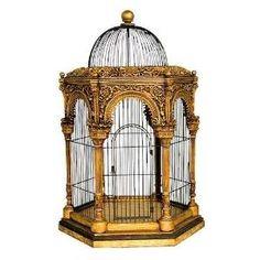 jaula del pájaro dorado de Krista