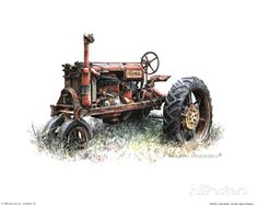 Early Model Farmall Tractor Posters by Sharon Pedersen at AllPosters.com