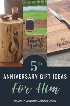 Celebrate your 5th anniversary with a unique wood gift for your husband and keep the love burning for years to come! #anniversary #anniversarygifts #anniversarygiftideasforhim #anniversarygiftsforhim