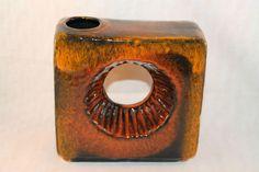 """Kultige 60/70er """" CHIMNEY - VASE """" Schornsteinvase, Keramik, Verlaufglasur,895-1"""