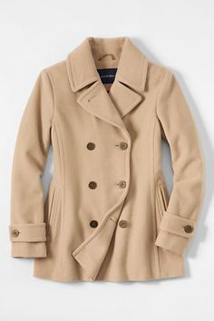 bca27cdbee7 Women s Camel Luxe Wool Pea Coat - The coat that conjures stories of rugged  winter passages aboard steam ships. Ours is a modern work of art and  function.