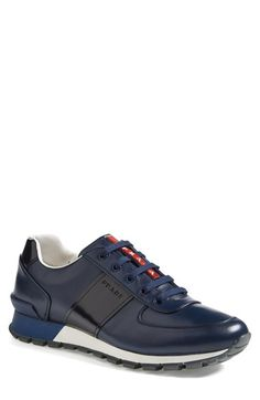 http://yrt.bigcartel.com Prada Leather Sneaker (Men) available at #Nordstrom