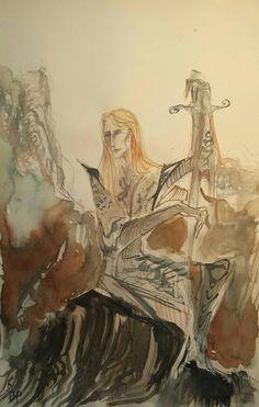 Sauron with Sword Original Tolkien Inspired Watercolor Painting Lord of the Rings Silmarillion Fantasy Men War Melkor Bauglir Orc Battle Watercolor Paintings, Original Paintings, Fantasy Men, Tolkien, Sword, Orchids, Elf, Battle, Inspired